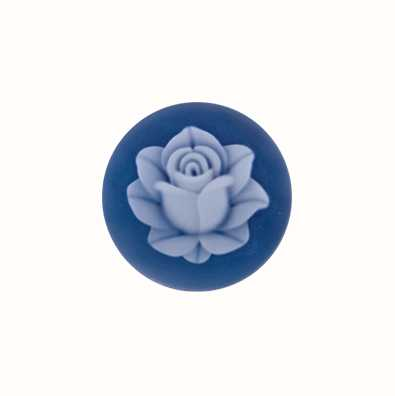 MY iMenso Lotus Agate Cameo 24mm Insignia (Blue) 24-0412