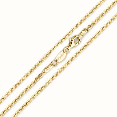 MY iMenso 925/Gold-Plated Necklace Jasseron Flat 42cm E-Coat 27-0022-42