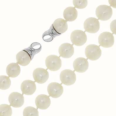 MY iMenso Freshwater Pearl Necklace + Endcap (925/Rhod-Pla 27-0519-42