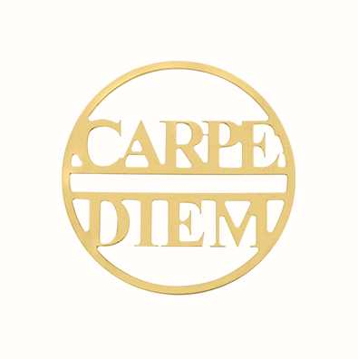 MY iMenso Carpe Diem 33mm Fantasy Insignia (925/Gold-Plate 33-0682