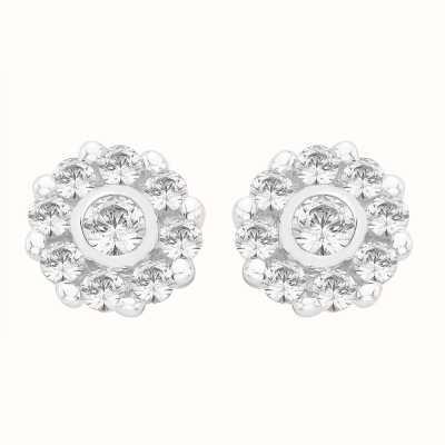 Perfection Swarovski Nine Stone Cluster Stud Earrings (0.50ct) E2315-SK