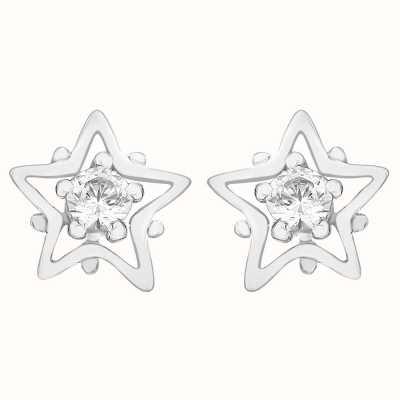 Perfection Swarovski Single Stone Stud Earrings in Star Mount (0.10ct) E2681-SK