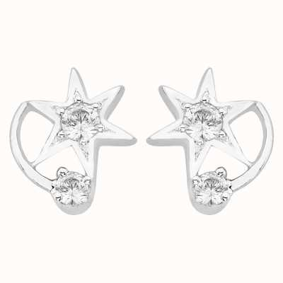 Perfection Swarovski Two Stone Star Earrings (0.15ct) E2725-SK