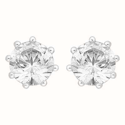 Perfection Swarovski Single Stone Eight Claw Stud Earrings (1.25ct) E3199-SK
