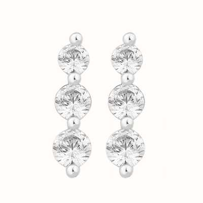 Perfection Swarovski Graduating Claw Set Trilogy Stud Earrings (0.50ct) E3426-SK