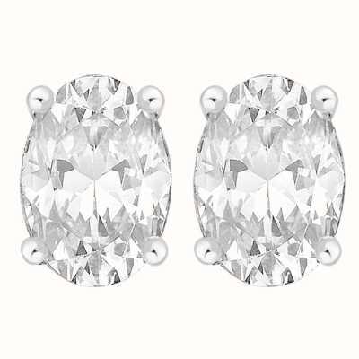 Perfection Swarovski Single Stone Claw Set Oval Stud Earrings (2.50ct) E3935-SK