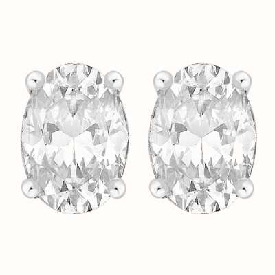 Perfection Swarovski Single Stone Claw Set Oval Stud Earrings (1.00ct) E3940-SK