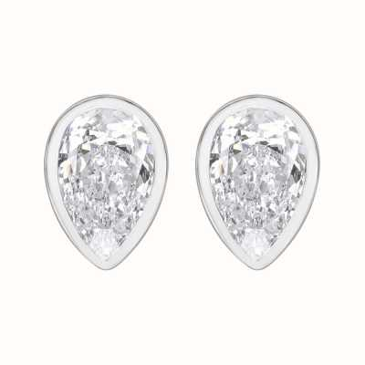 Perfection Crystals Single Stone Rubover Pear Stud Earrings (1.25ct) E3949-SK