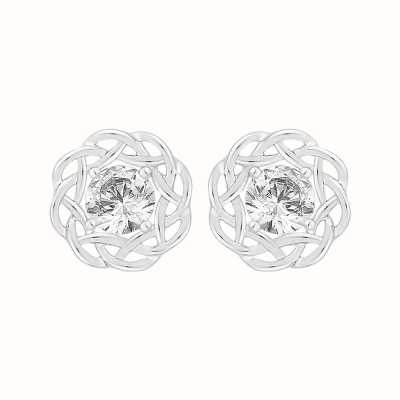 Perfection Crystals Single Stone Nest Stud Earrings (0.66ct) E4039-SK