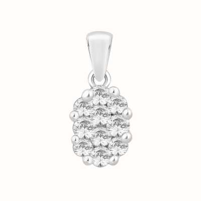 Perfection Crystals Oval Shaped Cluster Pendant (0.40ct) P2490-SK