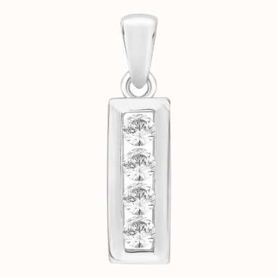 Perfection Crystals Four Stone Channel Set Pendant (0.20ct) P4624-SK