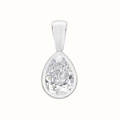 Perfection Swarovski Single Stone Rubover Pear Cut Pendant (0.33ct) P5494-SK