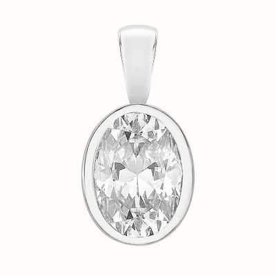 Perfection Crystals Single Stone Rubover Oval Cut Pendant (1.25ct) P5502-SK