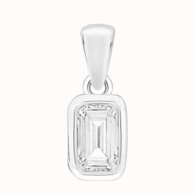 Perfection Swarovski Single Stone Rubover Emerald Pendant (1.00ct) P5673-SK