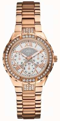 Guess Womens' Viva Multidial Rose Gold Tone Sports Watch W0111L3