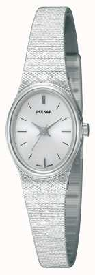 Pulsar Womens' Stainless Steel Mesh Strap Oval Dial Watch PK3031X1