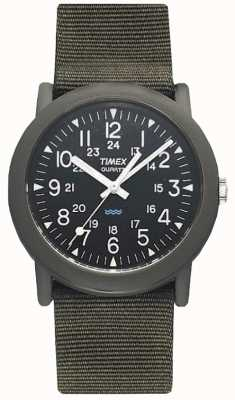 Timex Mens Black Green Camper Expedition Watch T41711