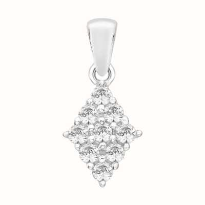 Perfection Crystals Diamond Shaped Cluster Pendant (1.00ct) P4988-SK