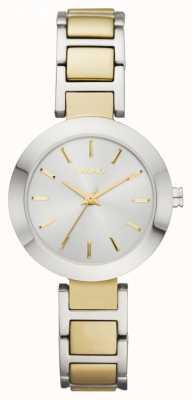 DKNY Womens' Two-Tone Round Dial Bracelet Strap Watch NY2401
