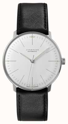 Junghans Men's Max Bill Automatic Black Leather Strap 027/3501.04