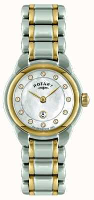 Rotary Ladies Two Tone Bracelet Watch LB02602/41L
