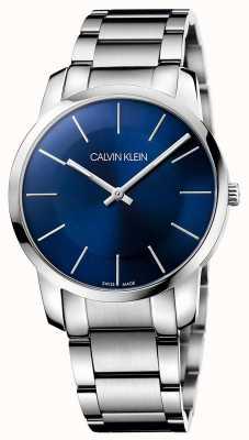 Calvin Klein Mens City Silver Steel Bracelet Watch K2G2114N