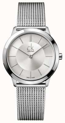 Calvin Klein Minimal Collection   Stainless Steel Mesh Strap   K3M22126