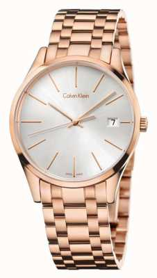 Calvin Klein Mens Time Rose Gold Watch K4N23646