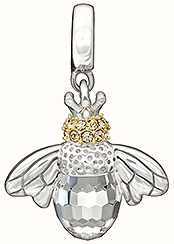 Chamilia Sterling Silver w Gold Plate & Stone -Good to Bee Queen  - Crystal Swarovski 2025-1099