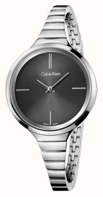 Calvin Klein Ladies Lively Black Silver Watch K4U23121
