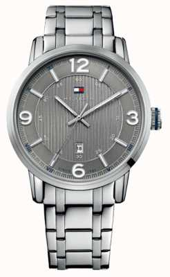 Tommy Hilfiger Mens Grey and Silver George Classic Watch 1710345