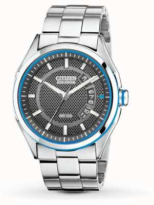 Citizen Drive Mens Eco Drive Stainless Steel & Blue Date Watch AW1141-59E