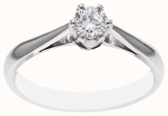 18k White Gold 0.25ct Diamond Ring FCD00401