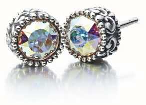 aba417872 Chamilia Sterling Silver W Stone - Princess Stud Earrings ...