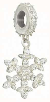 Chamilia Sterling Silver w Stone - Chamilia Brilliance Snowflake Charm - Swarovski Zirconia 2025-1222