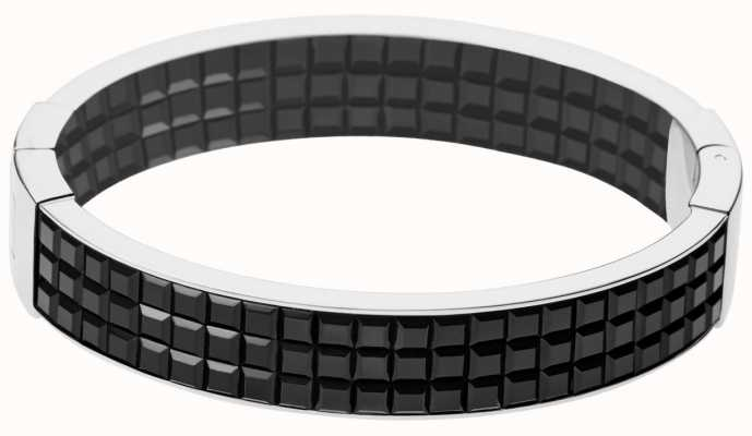 DKNY Stainless Steel Black Resin Glitz Bangle NJ2103040
