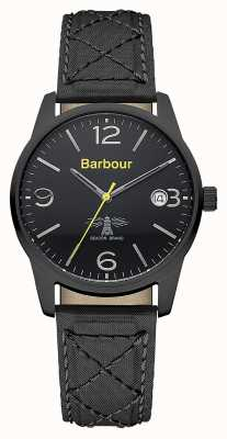 Barbour Mens Alanby Black Leather Strap Watch BB026BKBK