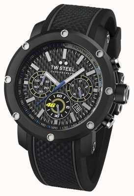 TW Steel Mens VR46 Black Rubber Strap Chronograph TW0937