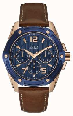 Guess Mens Flagship Multi Function Rose Gold Watch W0600G3