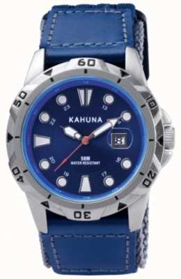Kahuna Blue Strap & Dial Polished Metal Case Watch K5V-0001G