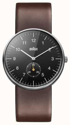 Braun Mens Black Brown Watch BN0024BKBRG