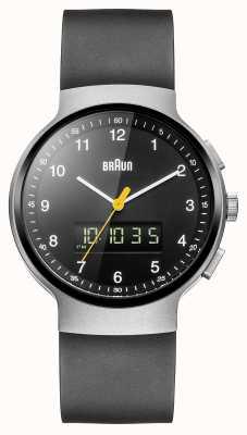 Braun Gent's Silver Classic Ana-Digi Watch BN0159SLBKBKG