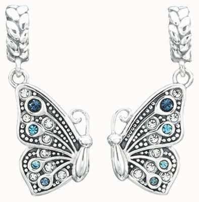 Chamilia True Blue Friendship Butterfly Charm Set 2025-1428