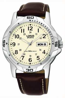 Lorus Brown Leather Strap RXN49BX9