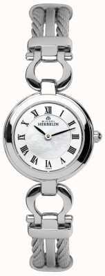 Michel Herbelin Womens Steel Cable Bracelet Watch 17422/B29