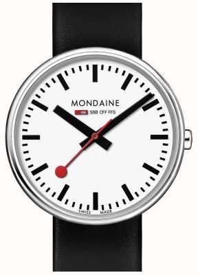 Mondaine Unisex Mini Giant Black Leather Strap A763.30362.11SBB