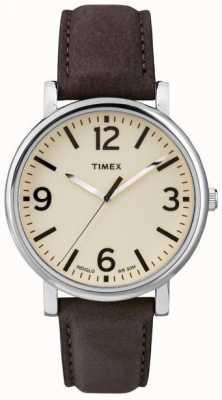 Timex Originals Brown Leather Strap Watch T2P526