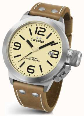 TW Steel Mens Canteen 45mm Brown Leather Strap CS11