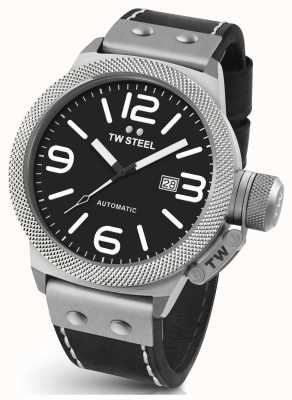 TW Steel Mens Canteen 45mm Automatic Leather Strap CS5