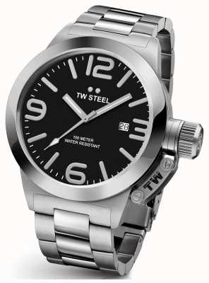 TW Steel Mens Canteen 45mm Stainless Steel Black Dial CB1